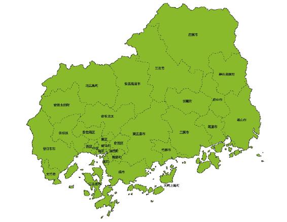 熊本の不用品回収・処分エリアマップ